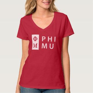 Camiseta Phi MU empilhada