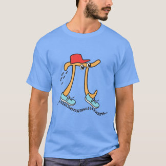 Camiseta Pi longos - Cara engraçada do Pi