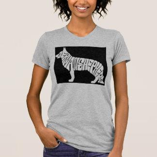 Camiseta Pia batismal do german shepherd