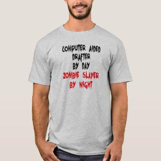 Camiseta Piada assistida por computador do zombi do CAD do
