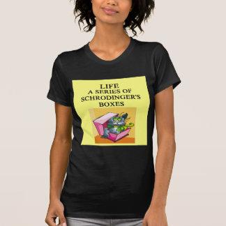 Camiseta piada da caixa de gato dos schrodinger