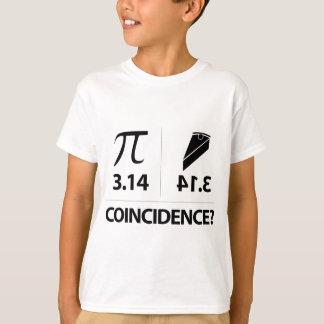 Camiseta Piada da matemática da coincidência do Pi