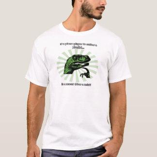 Camiseta Piada da movimentação do carro de corridas de