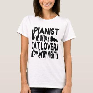 Camiseta Pianista do amante do gato