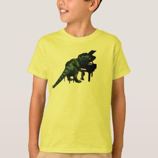 Camiseta Pianista do dinossauro