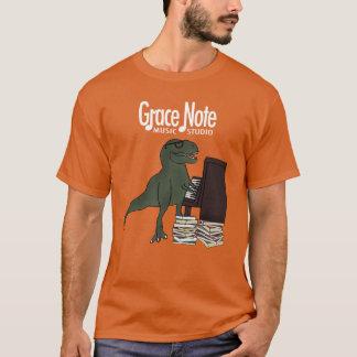 Camiseta Piano de T-Rex da nota de benevolência
