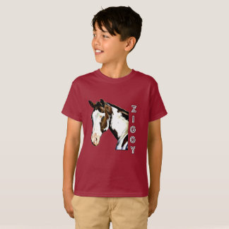 Camiseta PIC de Ziggy dos desenhos animados de w do t-shirt