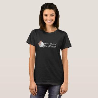 Camiseta PIckleball ou chocolate: Satisfaça sim (as letras