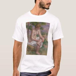 Camiseta Pierre um Bather assentado | de Renoir em uma