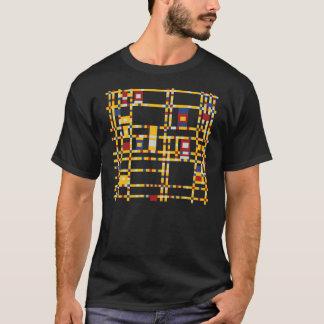 Camiseta Piet Mondrian - arte moderna de Woogie da dança de