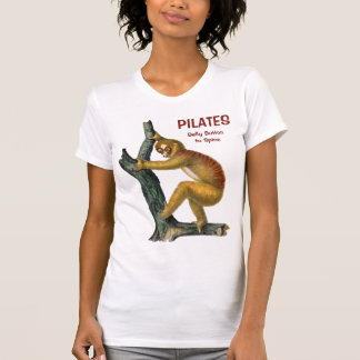 Camiseta PILATES! Umbigo ao t-shirt da espinha