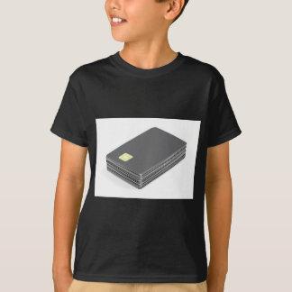 Camiseta Pilha com os cartões plásticos vazios com