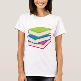 Camiseta Pilha de livros