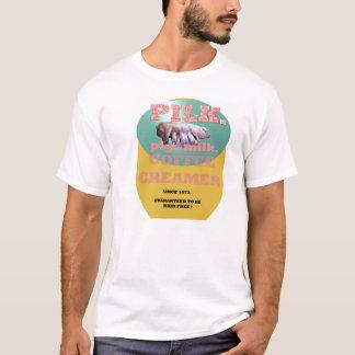 Camiseta PILK. Desnatadeira do café do leite dos porcos
