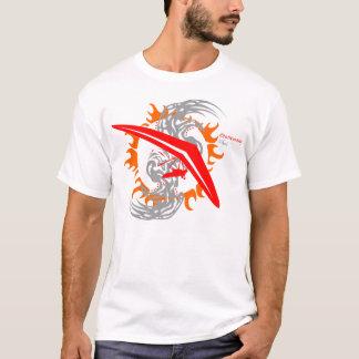 Camiseta Piloto do país transversal de deslizamento de cair
