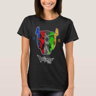 Camiseta Pilotos de Voltron   na cabeça de Voltron