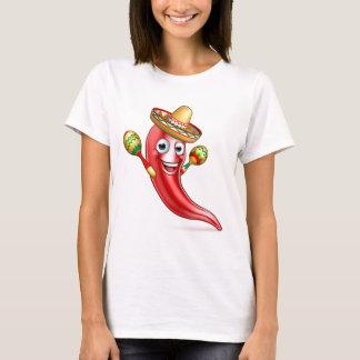 Camiseta Pimenta mexicana com Maracas e Sombrero
