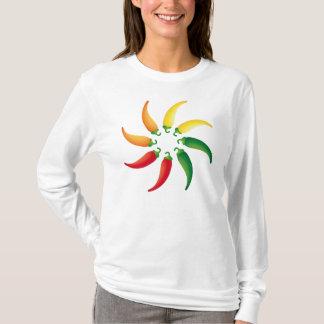 Camiseta Pimentas de Tex Mex do sudoeste de Chilis do