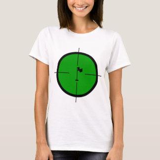 Camiseta Pin do golfe nos Crosshairs