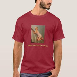 Camiseta Pin retro de Gil Elvgren do vintage acima da