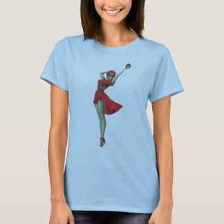 Camiseta Pin Sassy do zombi de Betty acima da menina