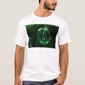 Camiseta Pingo de chuva do vidro verde