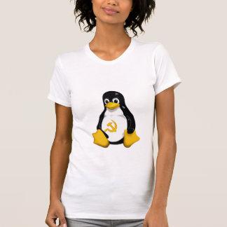 Camiseta Pinguim comunista (Linux) nas mulheres brancas