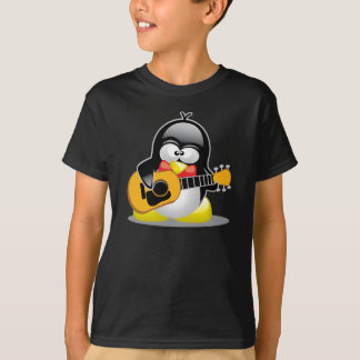 Camiseta Pinguim da guitarra