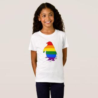 Camiseta Pinguim do arco-íris