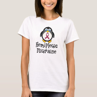 Camiseta Pinguim hemiplégico da consciência da enxaqueca