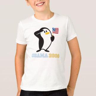 Camiseta Pinguim orgulhoso Obama 2008