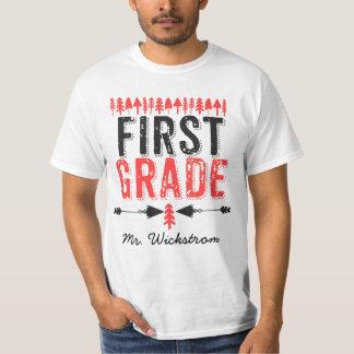 Camiseta Pinheiros e t-shirt de primeiro grau do professor