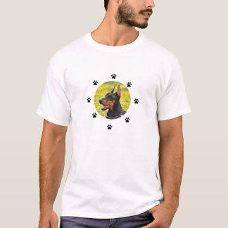 Camiseta Pinscher do Doberman com basebol