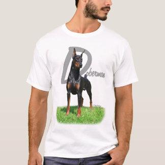 Camiseta Pinscher do Doberman com o t-shirt do nome da raça