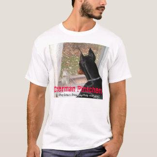 Camiseta Pinschers do Doberman que protegem casas dos