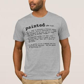 Camiseta PINTADO, definição do maquilhador