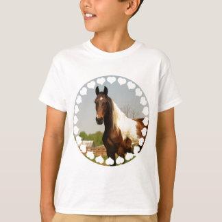 Camiseta Pinte o t-shirt do miúdo do cavalo