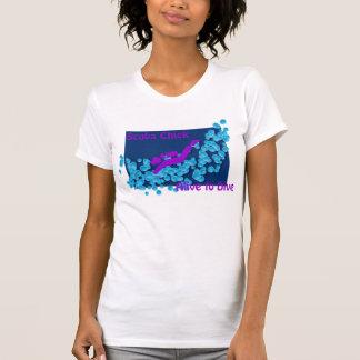 Camiseta Pintinho do mergulhador - vivo a mergulhar