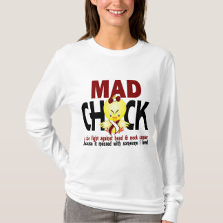 Camiseta Pintinho louco na luta cancer principal e de