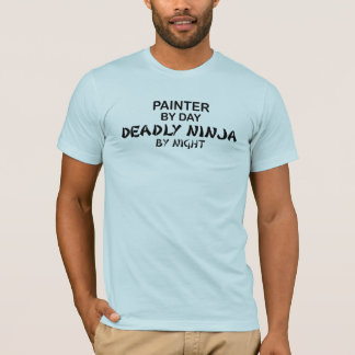 Camiseta Pintor Ninja mortal em a noite