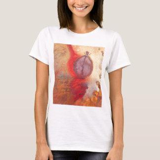 Camiseta Pintura a óleo do abstrato da dança do fogo
