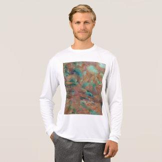 Camiseta Pintura a óleo urbana de cobre queimada do cheio