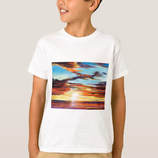 Camiseta Pintura acrílica do por do sol