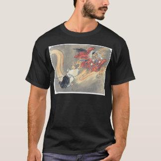 Camiseta Pintura antiga do demónio de Tengu do japonês