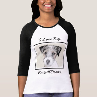 Camiseta Pintura áspera de Russell Terrier - arte original