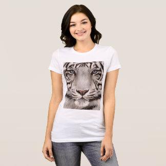 Camiseta Pintura branca do tigre