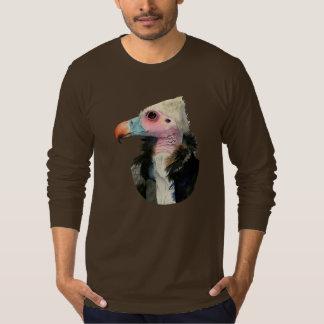 Camiseta Pintura Branco-Dirigida da aguarela do abutre