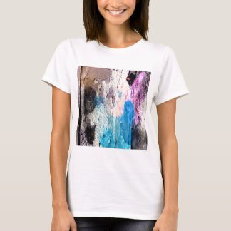 Camiseta Pintura da casca em azul, roxo, rosa