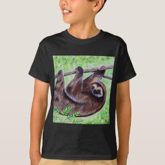 Camiseta Pintura da preguiça do smiley