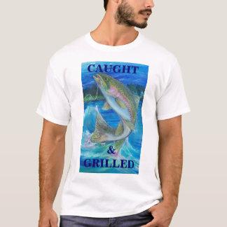 Camiseta Pintura da truta de arco-íris, travada &